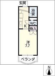 メゾンヴェルテ[3階]の間取り