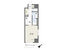 川崎区堀之内町計画 2階1Kの間取り