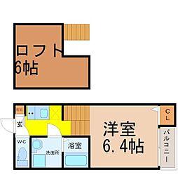 愛知県名古屋市南区外山2丁目の賃貸アパートの間取り