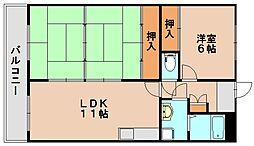 リバーパレス那珂川[2階]の間取り