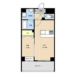 仮称)LIBTH(リブス)西新南[8階]の間取り
