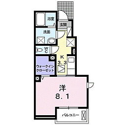 メゾン・ド・yu I[1階]の間取り