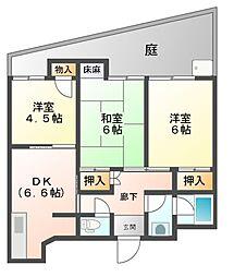 和美マンション[3階]の間取り