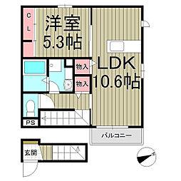 コンフォート鎌倉[2階]の間取り