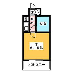 朝日プラザ博多III[8階]の間取り