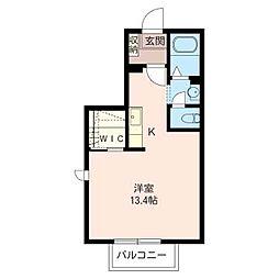 ソミール新松戸[1階]の間取り