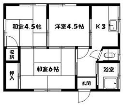[一戸建] 福岡県福岡市東区水谷1丁目 の賃貸【/】の間取り