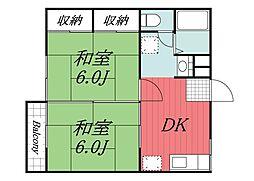 ドミール佐倉 E[2階]の間取り