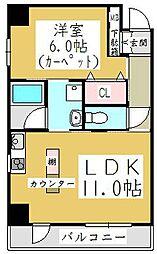ポムダムール[7階]の間取り