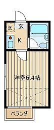 グリーンハイツ5[1階]の間取り