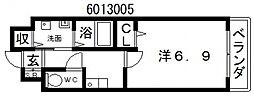 オーク帝塚山[1階]の間取り
