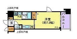京王線 府中駅 徒歩1分の賃貸マンション 9階1Kの間取り
