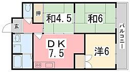 ピアイースト姫路白浜[302号室]の間取り
