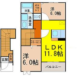 サニーレジデンス1[2階]の間取り