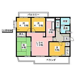 ミネックスK[4階]の間取り