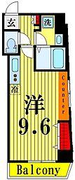 ゲートフィールド浅草東駒形 3階ワンルームの間取り