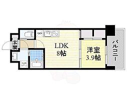 阪急千里線 北千里駅 徒歩15分の賃貸マンション 2階1LDKの間取り