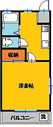 栃木県宇都宮市宮の内2丁目の賃貸アパートの間取り