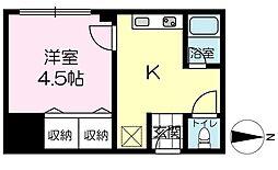 坂元町マンション[301号室]の間取り