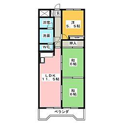 ラ・ジョーヌ[3階]の間取り