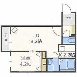 北海道札幌市厚別区厚別中央一条2丁目の賃貸マンションの間取り