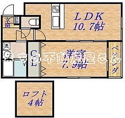 ルナコート[1階]の間取り