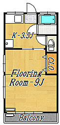 第3井上荘[2階]の間取り