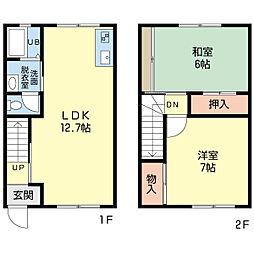 新潟県新潟市中央区大島の賃貸アパートの間取り