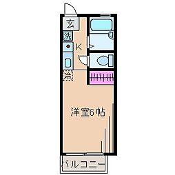神奈川県川崎市幸区北加瀬3丁目の賃貸アパートの間取り