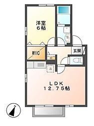 セジュール藤塚[2階]の間取り