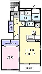 フォレスト[1階]の間取り