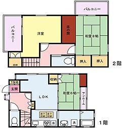 [一戸建] 神奈川県川崎市川崎区渡田1丁目 の賃貸【/】の間取り