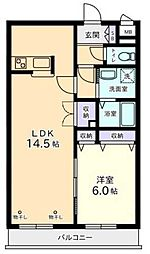 エクセルコート[2階]の間取り