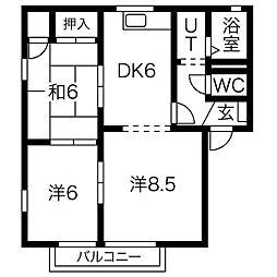 サンコーポNo.9[1階]の間取り