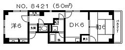 メゾンド社納[3階]の間取り