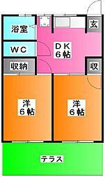 三島ハイツ[1階]の間取り