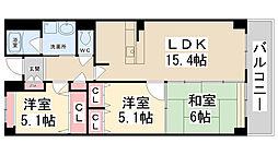 River West花屋敷[1階]の間取り