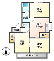 サントピア新栄B[2階]の間取り