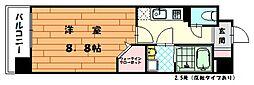 福岡県古賀市天神1の賃貸マンションの間取り