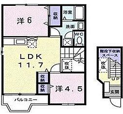 ソレイユ II[  2階号室]の間取り