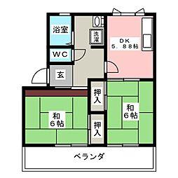 メゾン小杉 A[2階]の間取り
