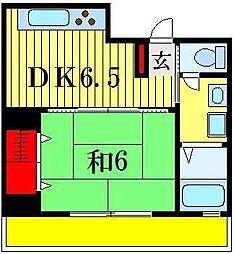 ベルシオン21[3階]の間取り