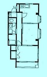 ブラウンハイツ[2階]の間取り