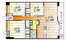 モン ジャルダン[2階]の間取り