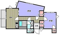 緑地マンション[3階]の間取り