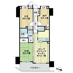 ライオンズマンション府中宮西[2階]の間取り
