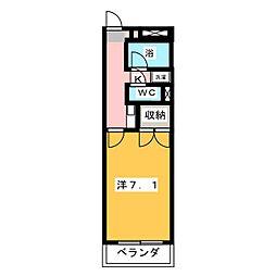 ユースハイム八剣[2階]の間取り