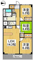ReMINE(リ・ミネ)[4階]の間取り