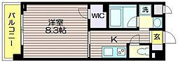 東京都調布市仙川町2の賃貸マンションの間取り
