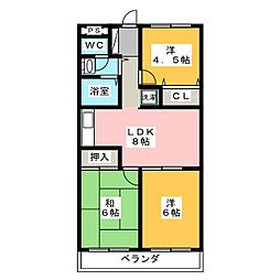 エクシードY[1階]の間取り